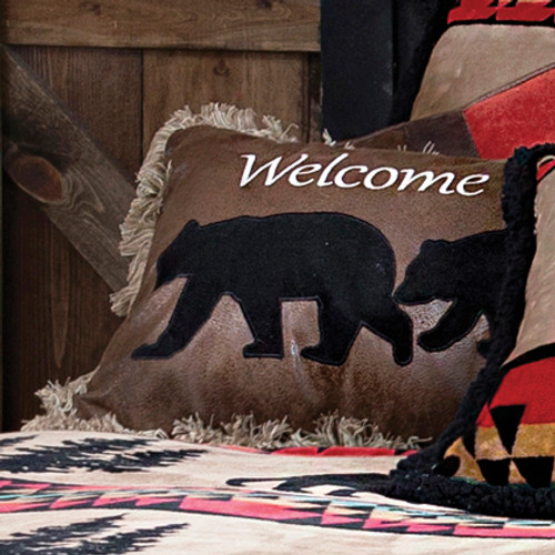 Welcome to our Den Bear Pillow