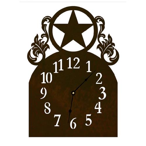 Texas Star Table Clock
