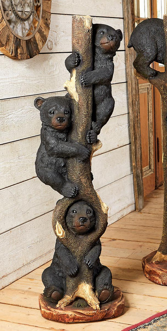 Three Bears in a Tree Sculpture - Large