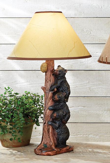 Three Black Bears Table Lamp