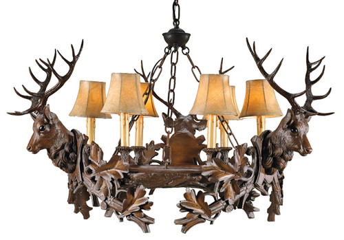 Three Royal Stags Chandelier