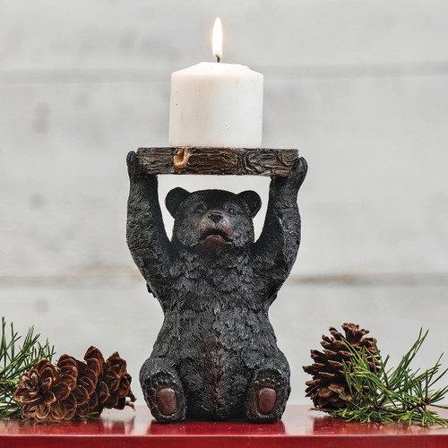 Timber Bear Candle Stand