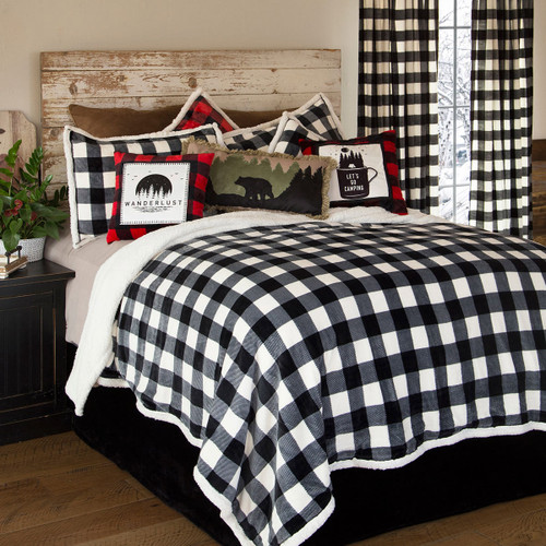 Timber Black & White Plaid Bed Set - Queen