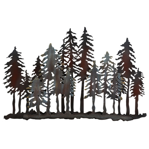 Timber Forest Metal Wall Art