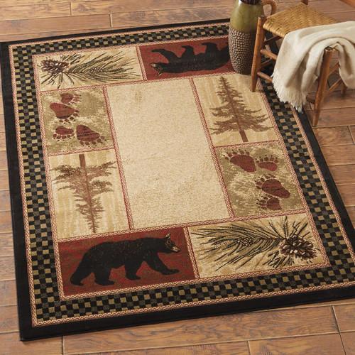 Timber Woods Bear Rug - 4 x 5