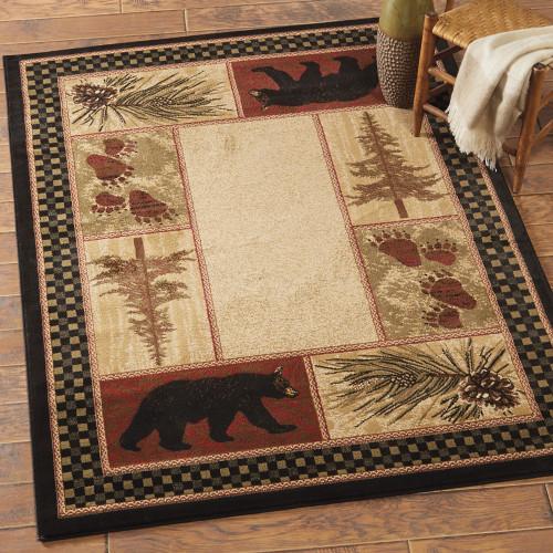 Timber Woods Bear Rug - 8 x 10