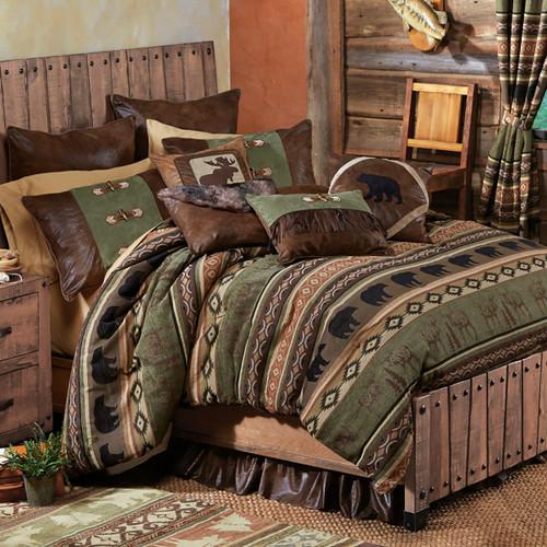 Timber Woods Moose & Bear Bed Set - Queen
