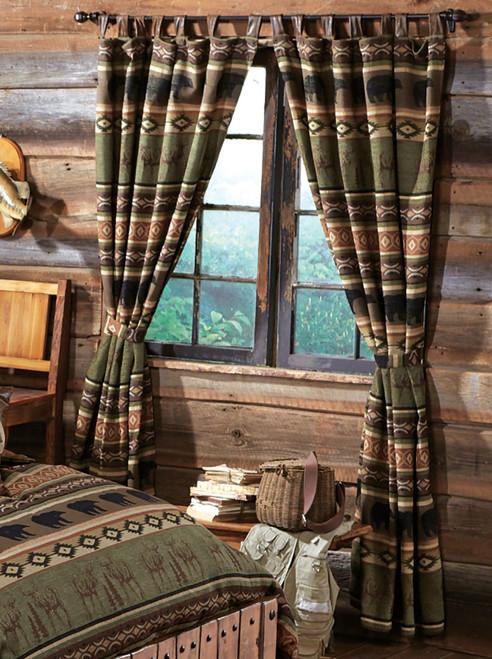 Timber Woods Moose & Bear Drapes