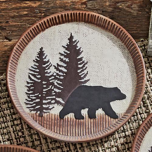 Timberland Bear Ceramic Salad Plate
