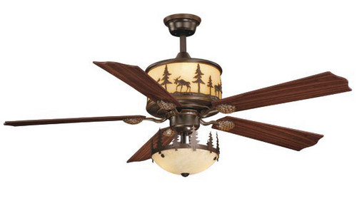 Timberland Ceiling Fan with Inverted Light