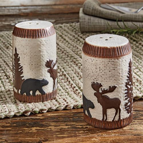 Timberland Moose & Bear Salt & Pepper Shakers