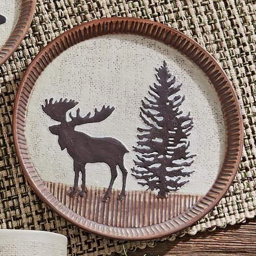 Timberland Moose Ceramic Salad Plate
