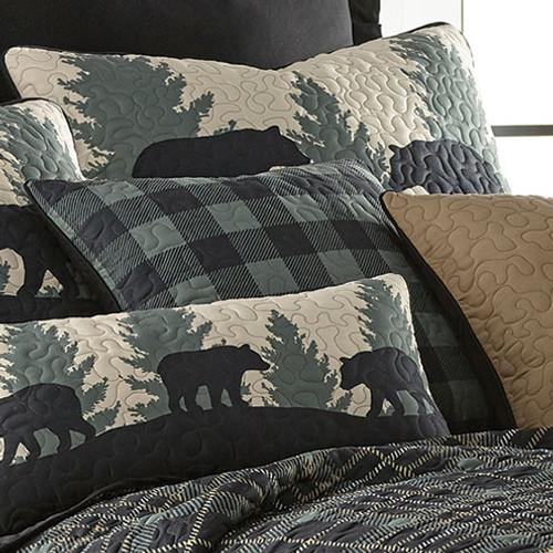 Timberland Plaid Bear Check Pillow