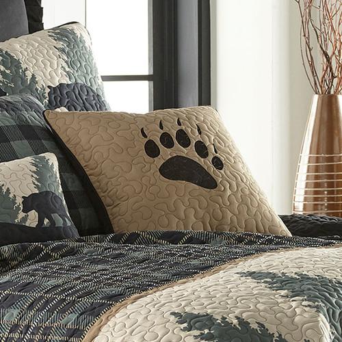 Timberland Plaid Bear Paw Pillow