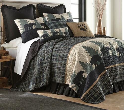 Timberland Plaid Bear Quilt - Full/Queen