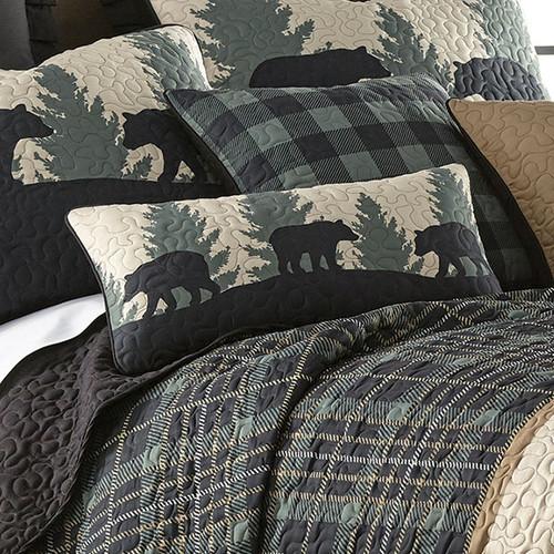 Timberland Plaid Bear Rectangle Pillow