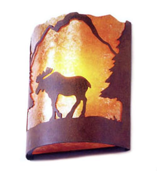 Timber Ridge Moose Sconce- Rust