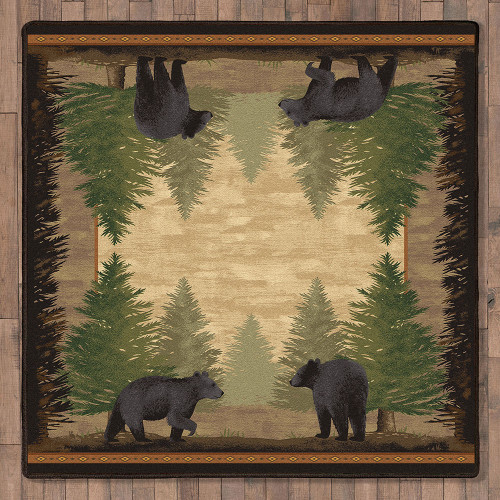 Timberline Bear Rug - 8 Ft. Square