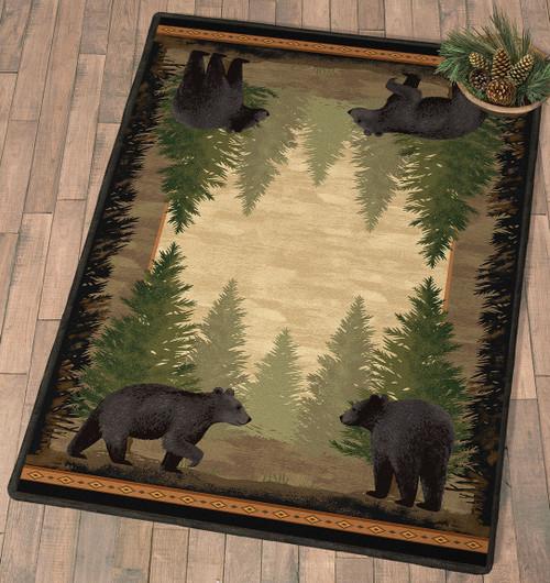 Timberline Bear Rug - 8 x 11