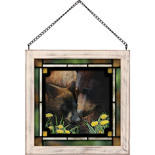Together Bears Stained Glass Art