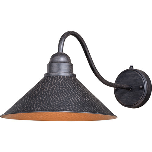 Trailhead Outdoor 12 Inch Wall Sconce with Long Arm - Aged Iron