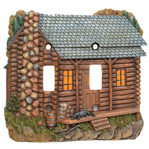 Tranquil Cabin Double Switch Cover