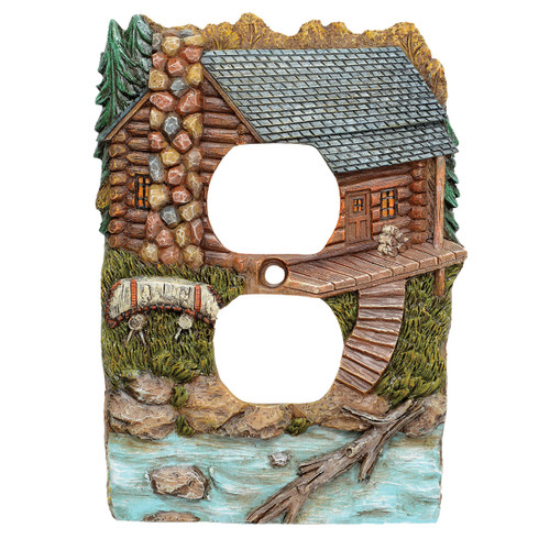 Tranquil Cabin Outlet Cover