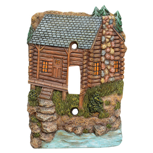 Tranquil Cabin Single Switch Cover
