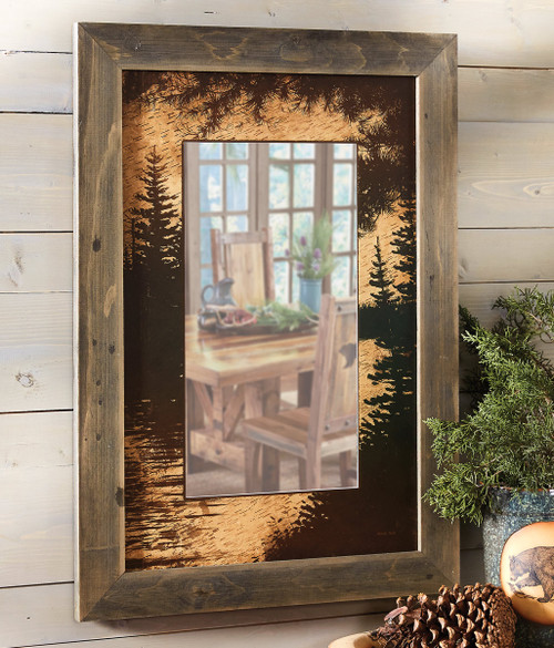Tranquil Timber Wall Mirror