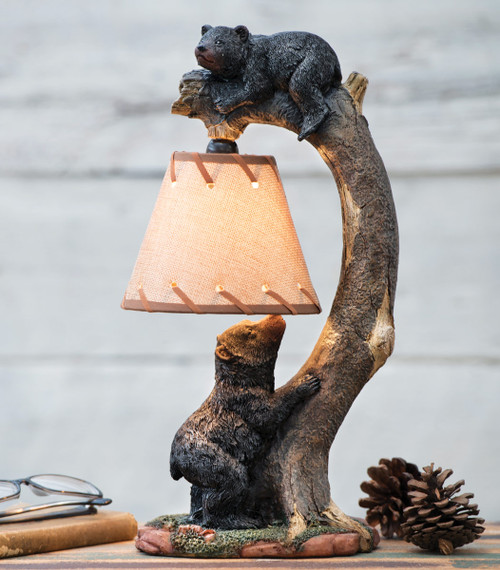 Tree Climbing Bears Accent Lamp