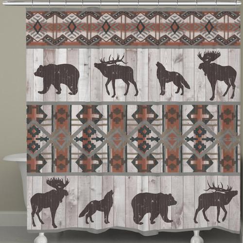 Tribal Lodge Shower Curtain