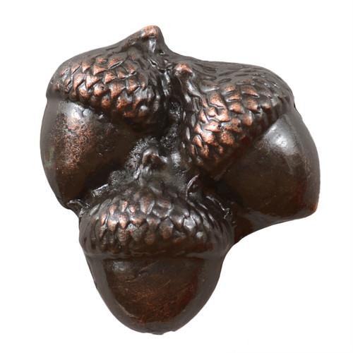 Triple Acorns Cabinet Knob - Pewter