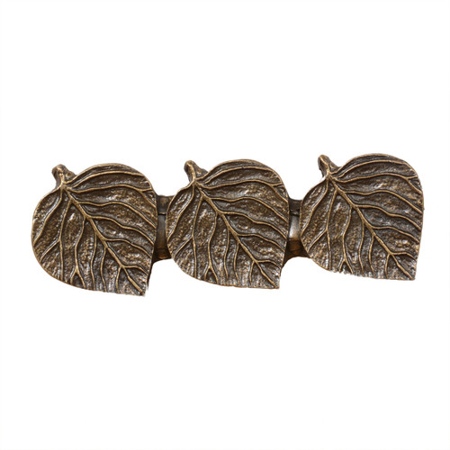 Triple Aspen Leaf Cabinet Pull