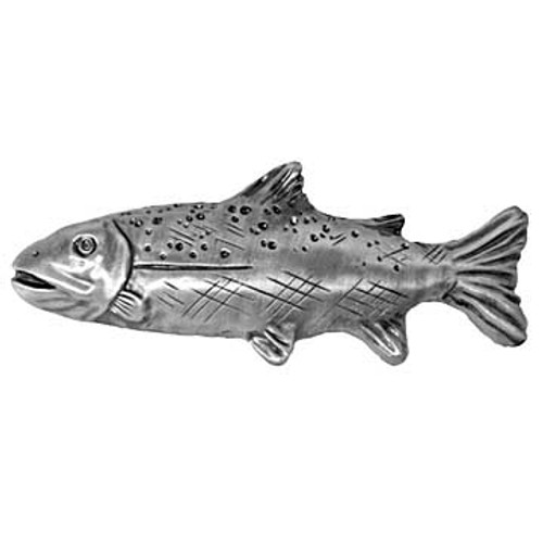 Trout Drawer Pull - Left Facing - Bronzed Black