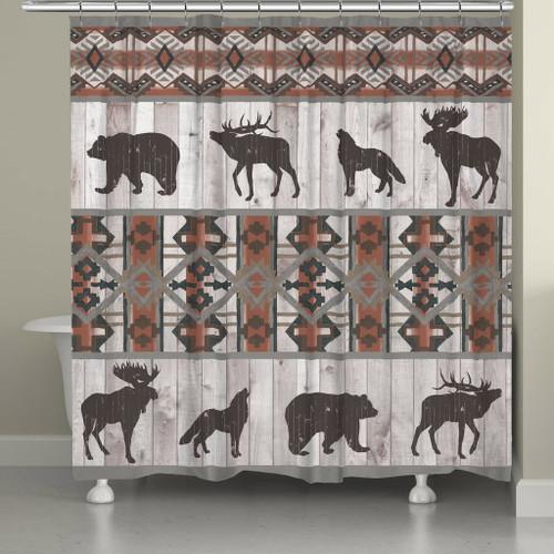Tribal Wildlife Shower Curtain