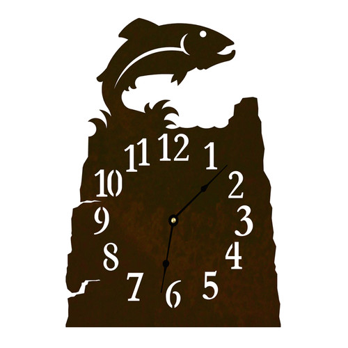 Trout Table Clock