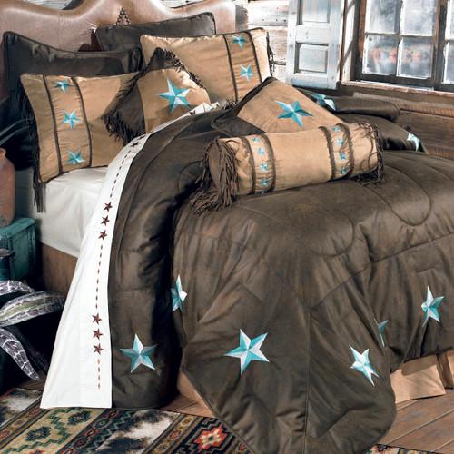 Turquoise Laredo Bed Set - Full