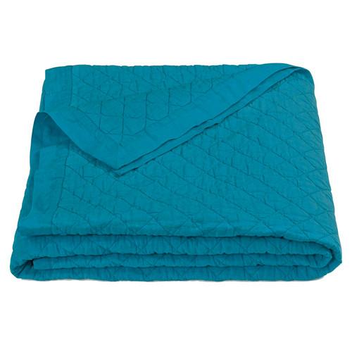Turquoise Linen Quilt - Full/Queen