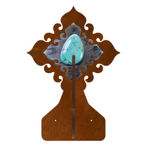 Turquoise Stone Double Hook