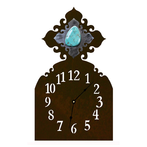 Turquoise Table Clock