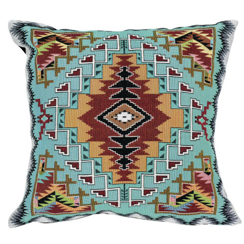 Turquoise Trails Pillow