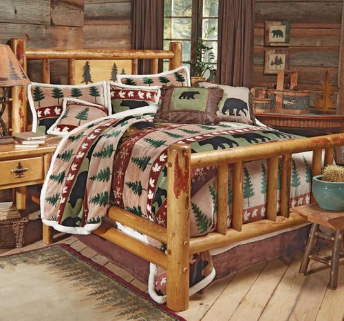 Rocky Mountain Log Bed - Queen