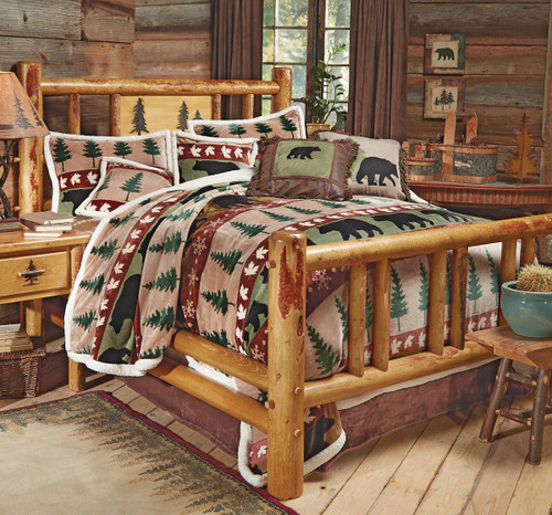 Rocky Mountain Log Bed - Twin
