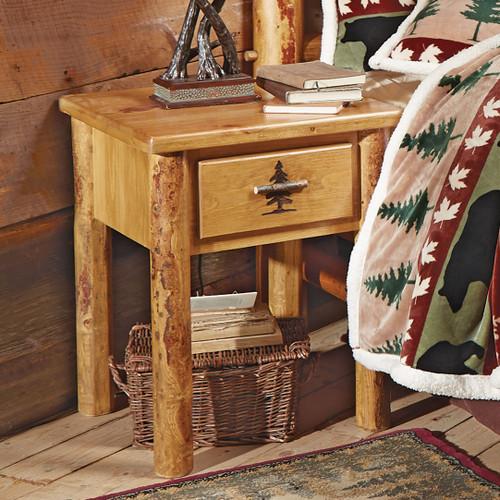 Rocky Mountain Log Nightstand