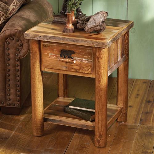 Bear Paw Nightstand w/Shelf