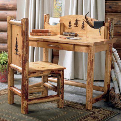 Rocky Mountain Log Desk & Chair