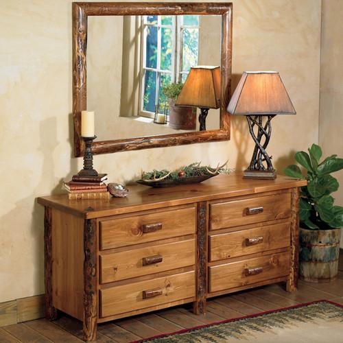 Moose Creek Log 6 Drawer Dresser with Mirror