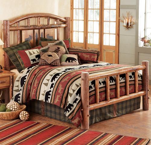Moose Creek Log Bed - Queen