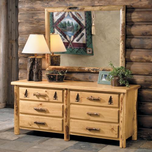 Rocky Mountain Log Dresser w/Mirror