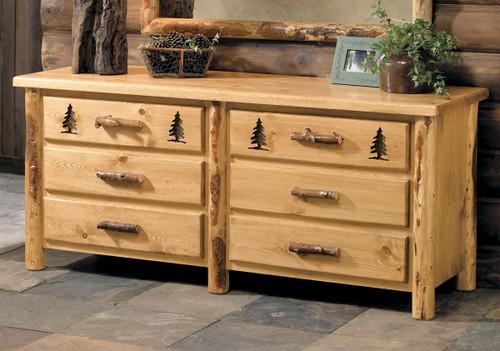 Rocky Mountain Log 6 Drawer Dresser Only